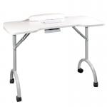 Стол для маникюра Space Plus cкладной с пылесосом (Белый)
