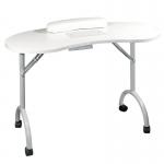 Стол для маникюра Simple Plus cкладной с пылесосом (Белый)