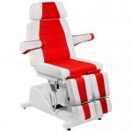Кресло педикюрное Гранд (Красно-белое)+стул