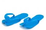 Тапочки Вьетнамки пенополиэтилен 4 мм  (25 шт. в упаковке) синие