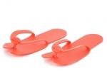 Тапочки Вьетнамки пенополиэтилен 4 мм (25 шт. в упаковке) красные