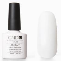 CND Shellac цвет Cream Puff, 7,3 мл (ярко белый)№01