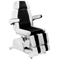 Кресло педикюрное Гранд (Черно-белое)+стул