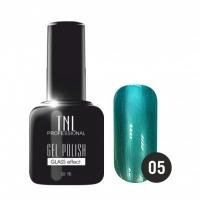 """Гель лак TNL """"Glass Effect"""" 10 мл (Бирюзово-зеленый) №05"""