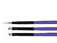 TNL набор кистей для нейл-арта 3 шт. фиолетовые