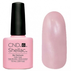 CND Shellac цвет Be Demure 7,3 мл (Розовый) №91173