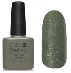 CND Shellac Wild Moss (травяной, плотный с микроблеском) №779