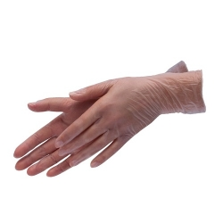 Перчатки виниловые, прозрачные размер M (100 шт)