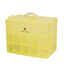 чемодан пластиковый трехуровневый