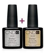 CND Shellac Base Coat, 12,5 мл.+Top Coat 15 мл.