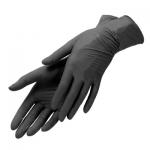 Перчатки виниловые, черные размер S (100 шт)