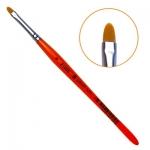 Кисть гелевая овальная из синтетического волоса №6(21005)