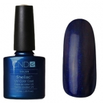 CND Shellac цвет Midnight Swim 7,3 мл(темно-синий с микроблестками)№48