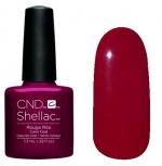 CND Shellac цвет Rouge Rite 7,3 мл (темно красный, без блеска и перламутра) №877