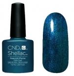CND Shellac цвет Peacock Plume 7,3 мл (насыщенный синий) №879