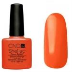CND Shellac цвет Electric Orange 7,3 мл (морковный)№514