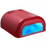 УФ - лампа TUNEL для сушки гелевых покрытий 36Вт с таймером (120 сек)красная