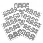 Трафареты, наклейки для ногтей