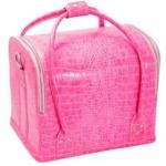 Cумка-чемодан розовая