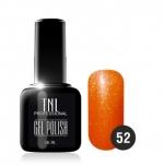Гель лак TNL 10 мл (Мерцающий оранжевый) №52