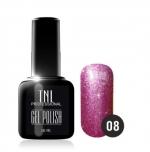 Гель лак TNL 10 мл (Фиолетовый с микроблестками) №08