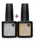 CND Shellac Base Coat, 12,5 мл.+Top Coat 15 мл.