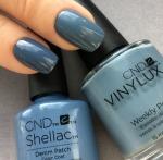 CND Shellac цвет Demin Patch 7,3 мл (Дымчато-синий) №91254